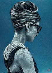 Unmistakably Audrey by Paul Normansell -  sized 20x28 inches. Available from Whitewall Galleries